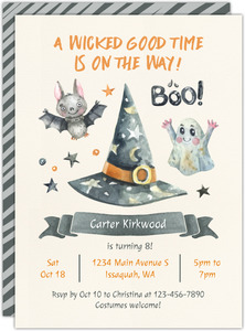 Wicked Good Time Halloween Party Printable Invitation