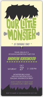 Monsterous Bash Online Halloween Birthday Party Invitation