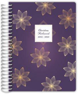 Faux Gold Floral Monolines Mom Planner