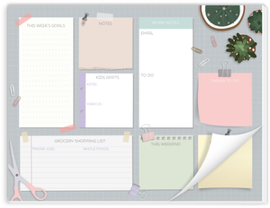 Decorated Desk Notes Weekly Planner Notepad