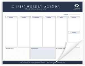 Modern & Fresh Business Weekly Planner Notepad