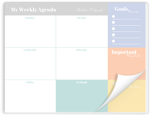 Pastel Color Blocks Weekly Planner Notepad
