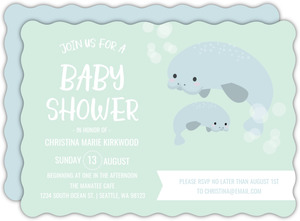 Manatee Baby Shower Invitation