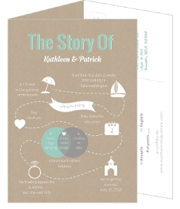 Love Story Journey Timeline 5x7 Wedding Invitation