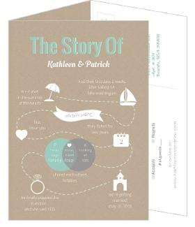 Journey of Love Timeline 5x7 Wedding Invitation