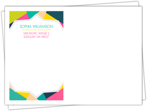 Modern Colorful Frame Custom Envelope