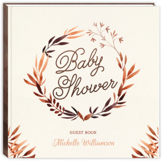 Autumn Foliage Baby Shower Guest Book