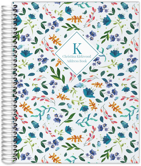 Modern Floral Print Address Book