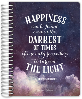 Turn on the Light Quote Custom Journal