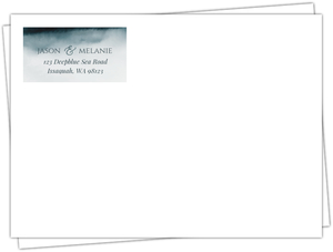 Deep Sea Watercolor Custom Envelope