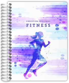 Watercolor Running Woman Fitness Planner