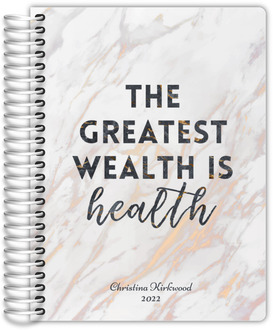Wealth Is Health Fitness Planner