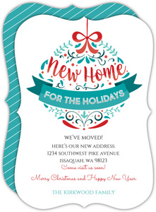 New Home Ornament Holiday Moving Announcement