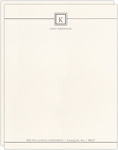 Modern Initial Square Business Letterhead