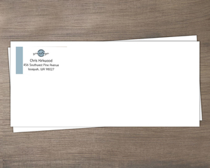 Simple Color Bar Business Envelope
