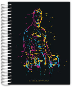Abstract Colorful Man Fitness Planner