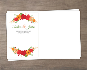 Modern Colorful Flowers Envelope