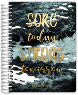 Faux Gold Foil Strong Tomorrow Fitness Planner