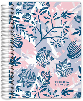 Abstract Nature Pattern Fitness Planner