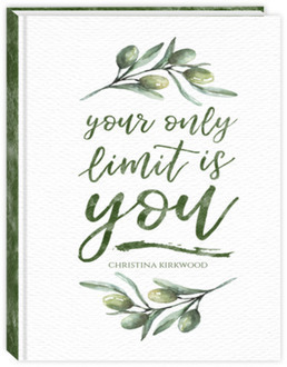 Olive Branch Watercolor Quote Fitness Planner
