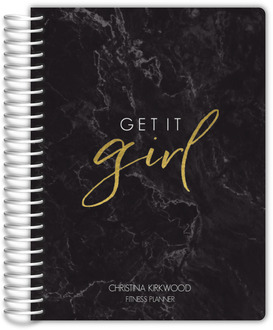 Black Marble Get It Girl Fitness Planner