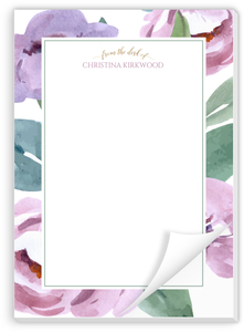 Soft Garden Flowers Personalized Notepad