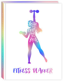 Colorful Silhouette Quote Fitness Planner