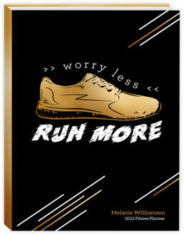 Faux Foil Worry Less Run More Fitness Planner