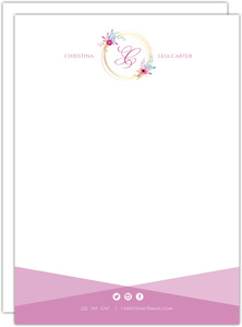 Simple Monogram Personal Business Letterhead