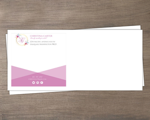 Simple Monogram Personal Business Custom Envelope