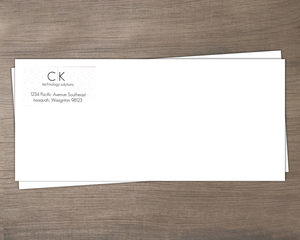 Modern Isometric Pattern Business Envelope