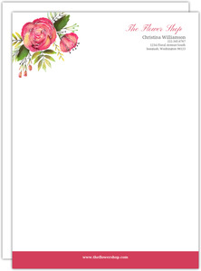Watercolor Flowers Business Letterhead