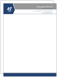 Simple Dual Color Business Letterhead