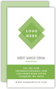 Bold Green Rectangles Business Card