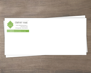 Bold Green Rectangles Business Envelope
