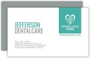 Simple Square Dental Business Card