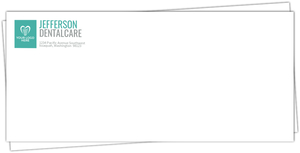 Simple Square Dental Business Envelope