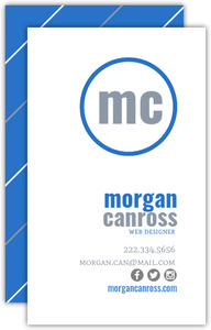Modern Monogram Personal Business Card
