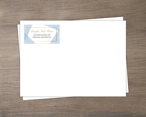 Geometric Frame Business Envelope