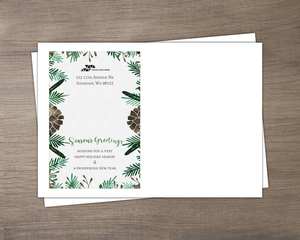 Pine Cone Faux Glitter Business Envelope