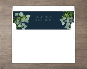 Botanical Leaves Holiday Envelope Liner