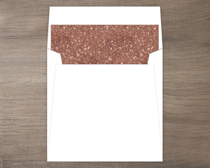 Rose Gold Faux Glitter Envelope Liner