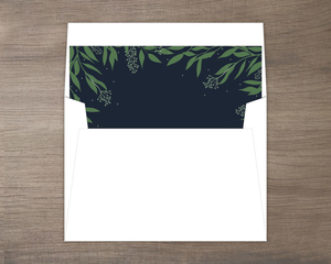 Delicate Winter Foliage Envelope Liner