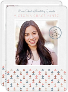 Muted Triangle Pattern Dental School Graduation Invitation