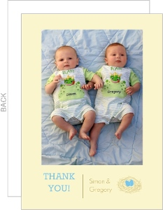 Nest Eggs Baby Shower Thank You Card