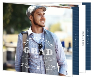 Modern Typography Law School Graduation Booklet Invitation