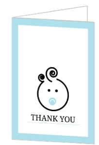 Cute Baby Face Baby Shower Thank You Card