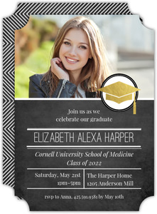 Modern Foil Seal Medical School Graduation Invitation