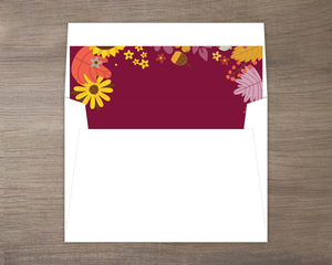 Colorful Autumn Floral Envelope Liner