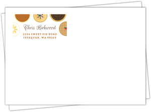 Baked Pie Contest Printed Envelope